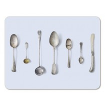 Buy the Jamida Michael Angove Cutlery Blue Placemat online at smithsofloughton.com