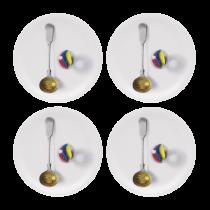 Buy the Jamida Michael Angove Cutlery White coasters online at smithsofloughton.com
