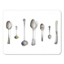Buy the Jamida Michael Angove Cutlery White Placemat online at smithsofloughton.com
