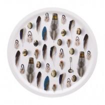 Buy the Jamida Michael Angove Feathered White Tray online at smithsofloughton.com