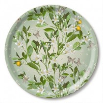 Buy the Jamida Michael Angove Orange Blossom Round Tray online at smithsofloughton.com