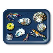Buy the Jamida Michael Angove Seafood Navy Tray online at smithsofloughton.com