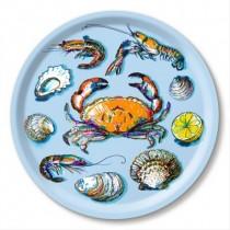 Buy the Jamida Michael Angove Seafood Sky Blue Round Tray online at smithsofloughton.com