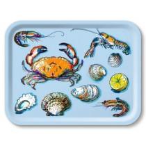Buy the Jamida Michael Angove Seafood Sky Blue Tray online at smithsofloughton.com