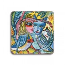 Buy the Jamida Ulrica Hydman Vallien Turturduvor Coaster online at smithsofloughton.com