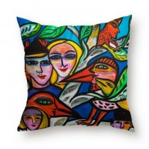 Buy the Jamida Ulrica Hydman Vallien Romance Blue Cushion online at smithsofloughton.com