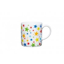 Buy the Kitchen Craft 80ml Porcelain Multi Stars Espresso Cup online at smithsofloughton.com