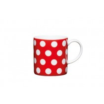 Buy the Kitchen Craft 80ml Porcelain Red Polka Dot Espresso Cup online at smithsofloughton.com