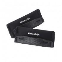 Buy the Kitchen Grip Loop Handle Holder 2 Piece 12cm Black online at smithsofloughton.com