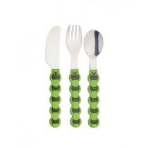 Buy the KitchenCraft Kids Three Piece Caterpillar Cutlery Set online at smithsofloughton.com