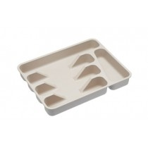 Buy the KitchenCraft Natural Elements Eco-Friendly Bamboo Fibre Cutlery Tray online at smithsofloughton.com