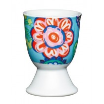 Buy the KitchenCraft Porcelain Bright Flower Egg Cup online at smithsofloughton.com