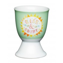 Buy the KitchenCraft Porcelain Rise and Shine Egg Cup online at smithsofloughton.com