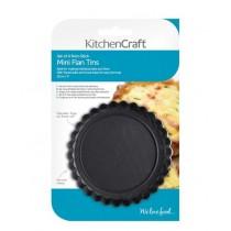 Buy the KitchenCraft Set of Four Non-Stick Mini Fluted Flan Tins online at smithsofloughton.com