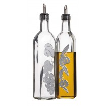 Buy the KitchenCraft World of Flavours Set of 2 Glass Oil and Vinegar Bottles online at smithsofloughton.com