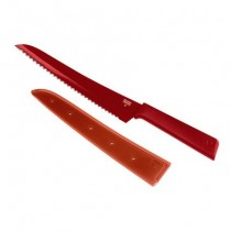Buy the Kuhn Rikon Colori Bread Knife Red 33cm at smithsofloughton.com