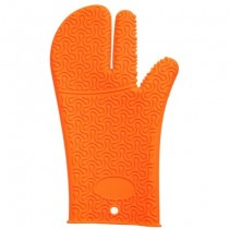Buy the Kuhn Rikon Kochblume Silicone Oven Mitt Orange online at smithsofloughton.com