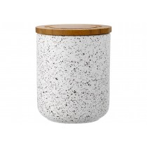 Buy the Ladelle Stak Soft Matt White Speckled 13cm Canister online at smithsofloughton.com