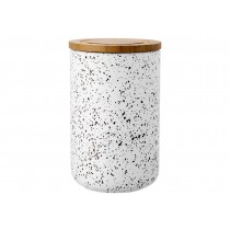 Buy the Ladelle Stak Soft Matt White Speckled 17cm Canister online at smithsofloughton.com
