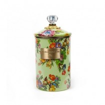 Buy the large MacKenzie-Childs Green Flower Market Canister online at smithsofloughton.com