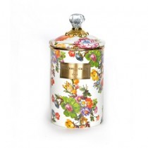Buy the large MacKenzie-Childs White Flower Market Canister online at smithsofloughton.com