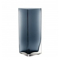 Buy the Leonardo Centro Vase Triangle Blue 34cm online at smithsofloughton.com