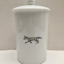 Buy the Little Weaver Arts Running Fox Storage Canister online at smithsofloughton.com