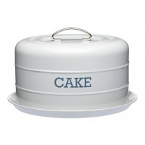 Buy the Living Nostalgia Airtight Domed Cake Tin Grey online at smithsofloughton.com