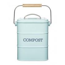 Buy the Living Nostalgia Vintage Blue Compost Bin online at smithsofloughton.com