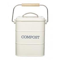 Buy the Living Nostalgia Vintage Cream Compost Bin online at smithsofloughton.com