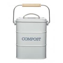 Buy the Living Nostalgia Vintage Grey Compost Bin online at smithsofloughton.com