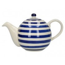 Buy the London Pottery Globe 4 Cup Teapot Blue Bands online at smithsofloughton.com