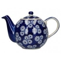 Buy the London Pottery Globe 4 Cup Teapot Blue Daisies online at smithsofloughton.com