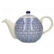 Buy the London Pottery Globe 4 Cup Teapot Blue Lattice online at smithsofloughton.com