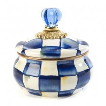 Buy the MacKenzie-Childs Royal Check Squashed Pot online at smithsofloughton.com