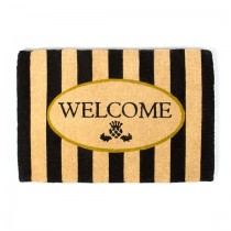 Buy the MacKenzie Childs Awning Stripe Welcome Entrance Door Mat online at smithsofloughton.com