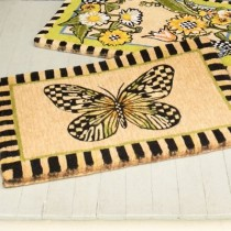Buy the MacKenzie Childs Butterfly Welcome Entrance Door Mat online at smithsofloughton.com