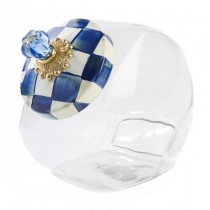 Buy the MacKenzie Childs Cookie Jar in Royal Check online at smithsofloughton.com