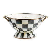 Buy the MacKenzie Childs Courtly Check Colander Large online at smithsofloughton.com