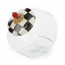 Buy the MacKenzie Childs Courtly Check Cookie Jar online at smithsofloughton.com