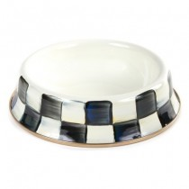 Buy the MacKenzie Childs Courtly Check Enamel Cat Bowl online at smithsofloughton.com