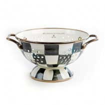 Buy the MacKenzie Childs Courtly Check Enamel Colander online at smithsofloughton.com