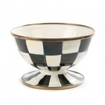 Buy the MacKenzie Childs Courtly Check Enamel Ice Cream Dish online at smithsofloughton.com