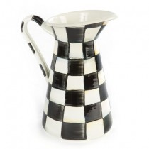 Buy the MacKenzie Childs Courtly Check Pitcher Medium online at smithsofloughton.com