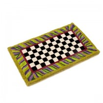 Buy the MacKenzie Childs Courtly Check Welcome Entrance Door Mat online at smithsofloughton.com