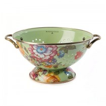 Buy the MacKenzie Childs Flower Market Large Colander Green online at smithsofloughton.com