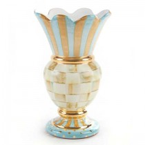 Buy the MacKenzie Childs Parchment Check Great Vase online at smithsofloughton.com