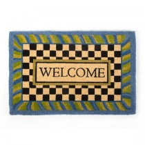 Buy the MacKenzie Childs Periwinkle Welcome Entrance Door Mat online at smithsofloughton.com