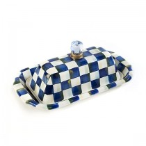 Buy the Mackenzie Childs Royal Check Butter Dish online at smithsofloughton.com