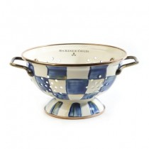 Buy the MacKenzie Childs Royal Check Enamel Colander online at smithsofloughton.com